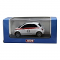 AGM Top Racer Slotcar -  Fiat 500 in Weiss No.21